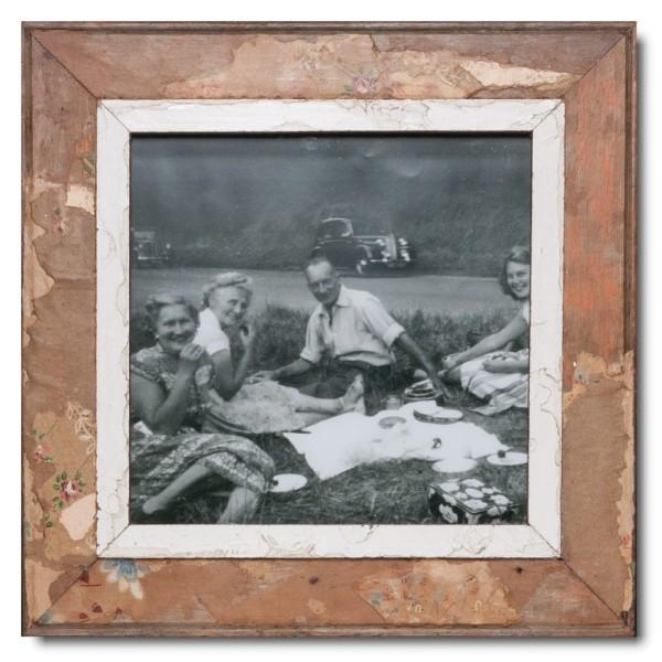 Altholz Bilderrahmen Quadrat für Fotogröße 29,7 x 29,7