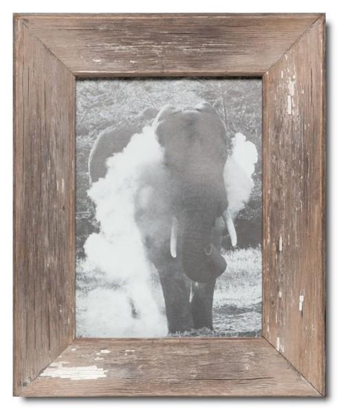Bilderrahmen aus recyceltem Holz für Bildformat 21 x 29,7 cm aus Kapstadt