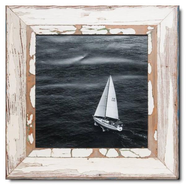 Quadrat Bilderrahmen aus recyceltem Holz für Fotoformat 29,7 x 29,7 aus Kapstadt