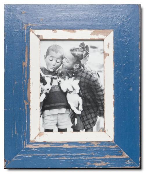 Bilderrahmen aus recyceltem Holz für Fotoformat 14,8 x 21 cm aus Kapstadt
