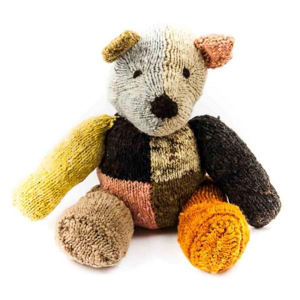 Bunter Woll-Teddybär