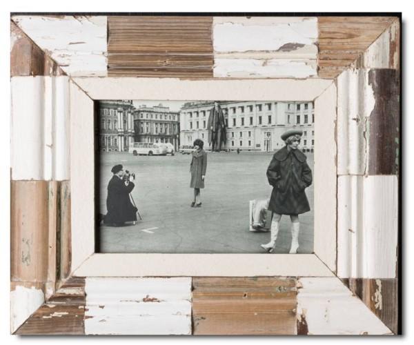 Mosaik Altholz Bilderrahmen für Fotogröße DIN A5 von Luna Designs