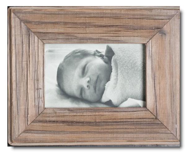 Basic Bilderrahmen aus recyceltem Holz für Bildformat 10 x 15 cm von Luna Designs