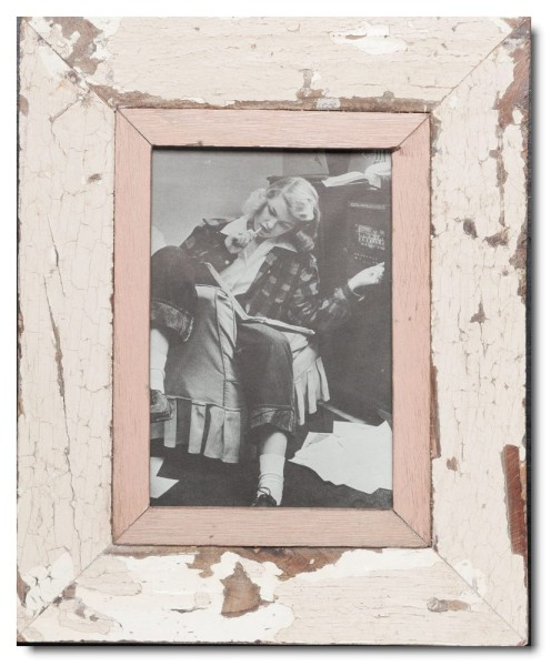 Bilderrahmen aus recyceltem Holz für Fotogröße 14,8 x 21 cm aus Kapstadt