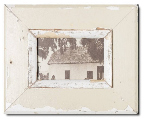 Bilderrahmen aus recyceltem Holz für Fotogröße 10,5 x 14,8 cm