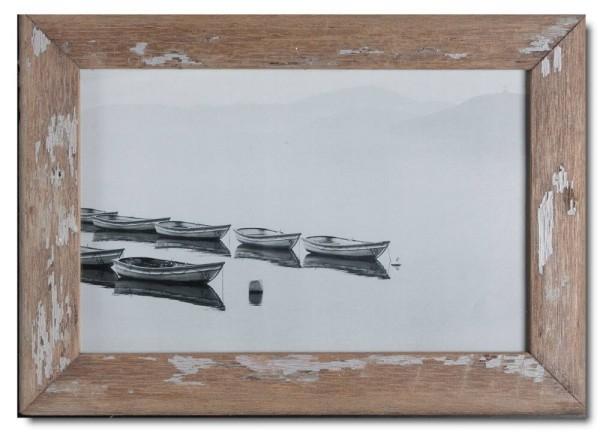 Basic Bilderrahmen aus recyceltem Holz für Fotogröße 25 x 38 cm