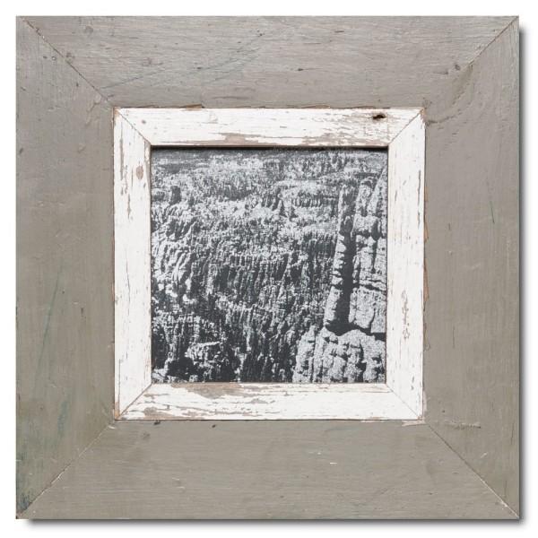 Quadrat Bilderrahmen aus recyceltem Holz für Bildgröße 14,8 x 14,8 aus Südafrika