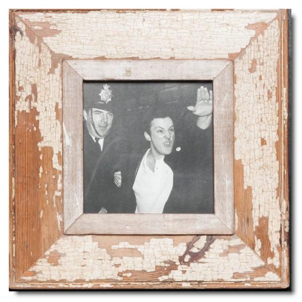Quadrat Bilderrahmen aus recyceltem Holz für Fotogröße 14,8 x 14,8 aus Südafrika