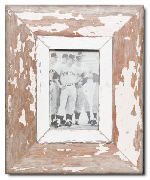 Bilderrahmen aus recyceltem Holz für Bildformat DIN A6 aus Südafrika