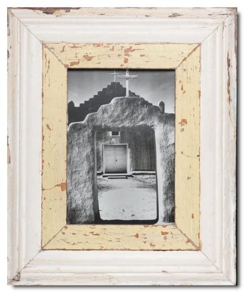 Breiter Bilderrahmen aus recyceltem Holz für Bildformat 29,7 x 21 cm aus Kapstadt