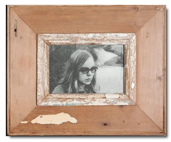 Bilderrahmen aus recyceltem Holz für Bildgröße DIN A6 aus Kapstadt