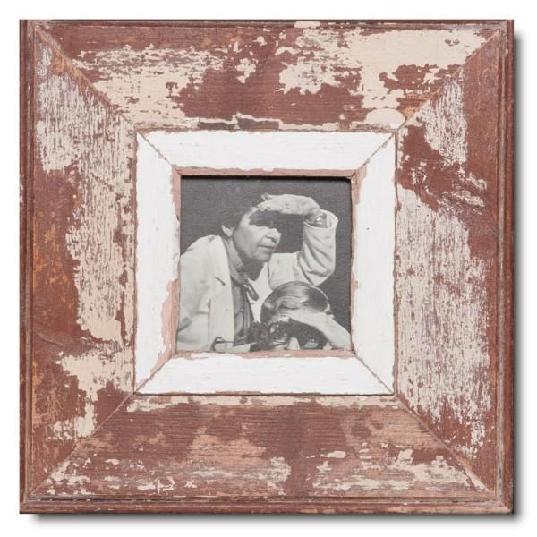 Quadrat Bilderrahmen aus recyceltem Holz für Bildgröße 10,5 x 10,5