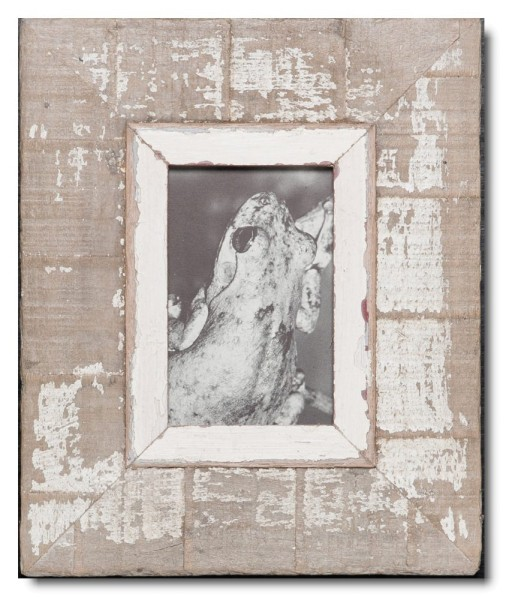 Bilderrahmen aus recyceltem Holz für Fotoformat 10,5 x 14,8 cm von Luna Designs