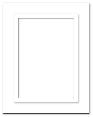 Spiegel - 43x55 - A3