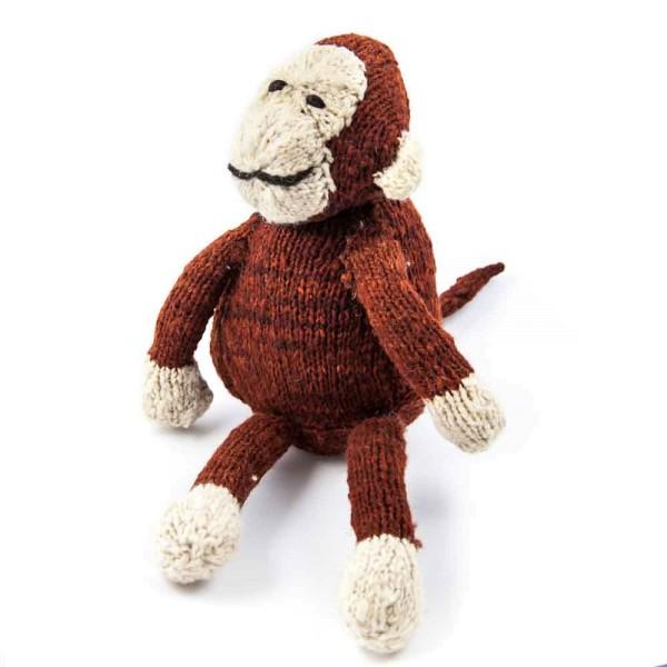 Sitzender Woll-Affe