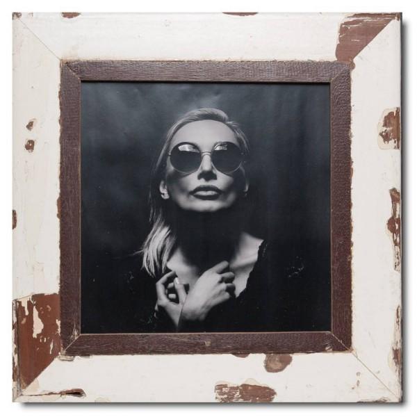 Quadrat Bilderrahmen aus recyceltem Holz für Fotogröße DIN A3 Quadrat