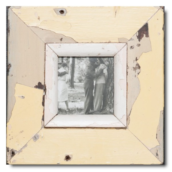 Quadrat Bilderrahmen aus recyceltem Holz für Bildformat DIN A6 Quadrat von Luna Designs