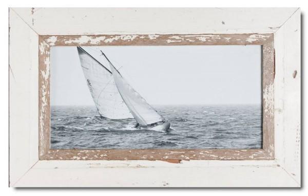 Panorama Bilderrahmen aus recyceltem Holz für Bildgröße 2:1